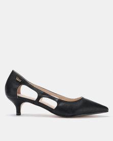 PLUM Lotta Pointy Kitten Heels Black