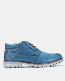 Utopia Casual Lace Up Boots Navy