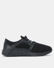 Utopia Lace Up Sneakers Black