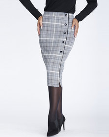 Contempo Printed Bow Skirt Black/White