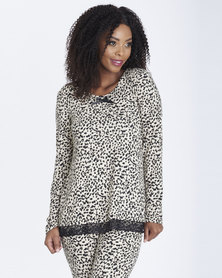 Contempo Animal Print Top