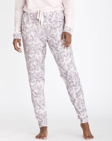 Contempo Printed PJ Bottom Pink