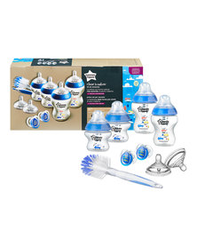 Tommee Tippee Closure To Nature - Newborn Starter Kit - Decorated Boy Blue