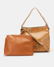 Miss Black Gretha Tote Bag Tan