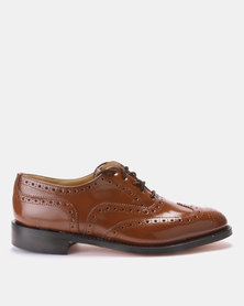 CROCKETT & JONES Goodyear Welted Lace-up Formal shoes Honey Brown