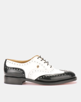 10152a2c6ed CROCKETT   JONES Goodyear Welted Lace-up Formal shoes Black   White