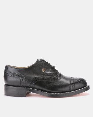 CROCKETT & JONES Goodyear Welted Lace-up Formal Shoe Black