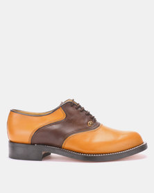 CROCKETT & JONES Goodyear Welted Lace-up Formal shoe Biscuit