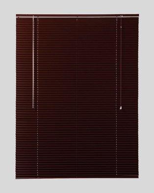 c128df3f861 Decor Depot 25 mm Aluminium Venetian Blind Mahogany