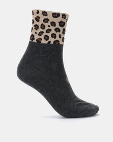 Joy Collectables 5 Pack Socks Dark Grey