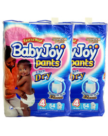 Babyjoy Diapers/Pants Double Pack - Size  4