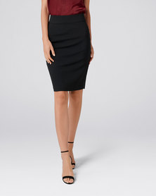 Forever New Leah Classic Pencil Skirt Black