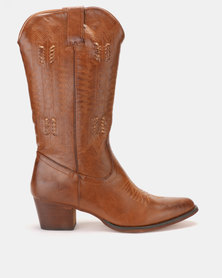 PLUM Long Boot Brown