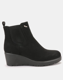 PLUM Gianna2 Wedge Ankle Boot Black