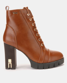 PLUM Becky Ankle Boot Tan