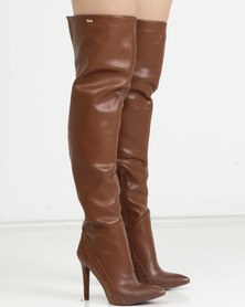 PLUM Kaylie OTK Boot Tan