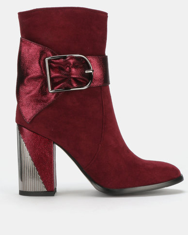 PLUM Ankle Boots Burgundy