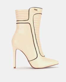 PLUM Ankle Boots Nude/Black