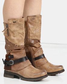 PLUM Resler Ankle Boot Tan