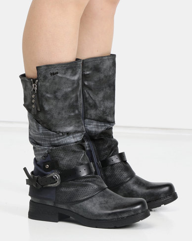 b032482488fa PLUM Resler Ankle Boot Blue