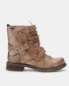 PLUM Calisa Ankle Boot Khaki