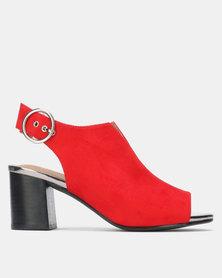 SOA Bailey Block Heels Red