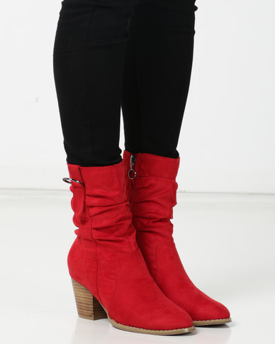 SOA Halty Boots Red