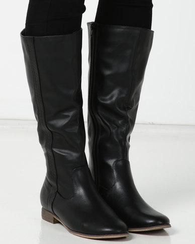 SOA Farrah Long Boots Black