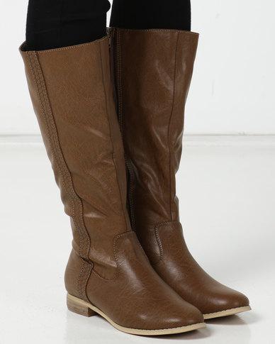 SOA Farrah Long Boots Tan