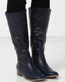 SOA Farrah Long Boots Navy