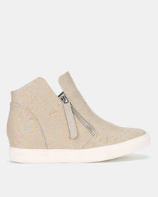 SOA Royale Hi Top Wedge Sneaker Taupe