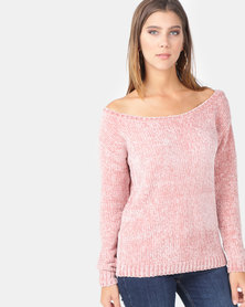 AX Paris Chenille Jumper Pink