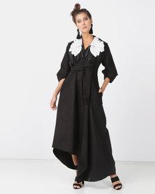 Judith Atelier Lily 3D Melton Dress Black