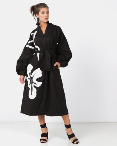Judith Atelier Coco Melton Coat Dress Black