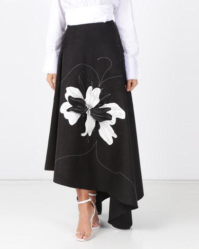 Judith Atelier Betta Melton 3D Skirt Black