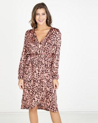 AX Paris Animal Print Dress Pink