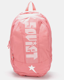 Soviet Manchester Large Nylon Backpack Dusty Pink/White