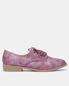 Butterfly Feet Adalynn Lace Up Shoes Burgundy