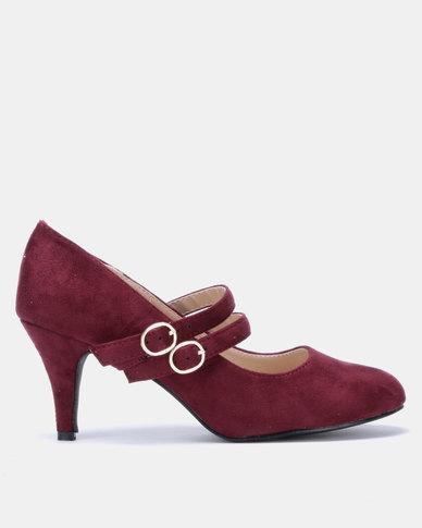 Butterfly Feet Petunia Heels Burgundy