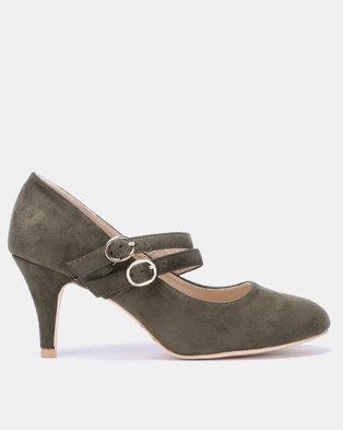 fbb491cb931 Butterfly Feet Petunia Heels Olive