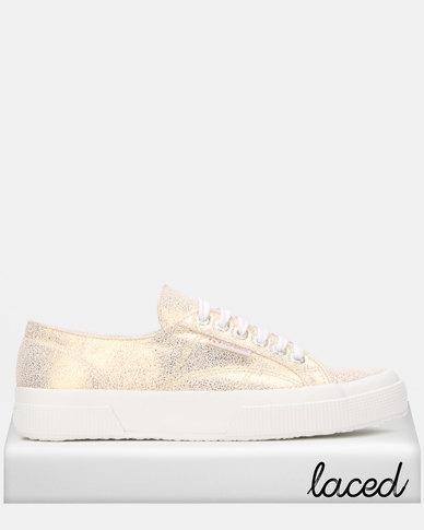 Superga Soft Glitter White Gold