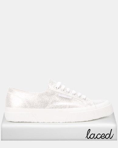 Superga Soft Glitter White Grey Silver