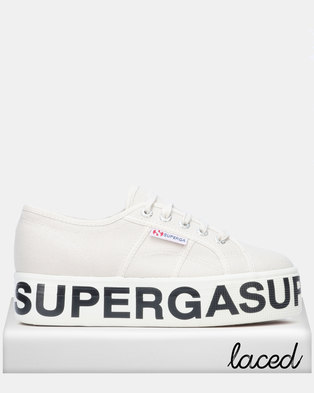 1ddb633b558c Superga Canvas Flatform Bold Letters Grey Seashell