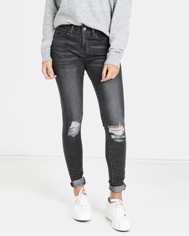 Levi's® Curvy Skinny Jeans Washed Black Dream