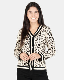 Sissy Boy Animal Print Cardigan Multi