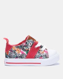 Bubblegummers Lace Up Canvas Shoes Multi