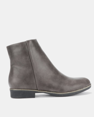 0c2d52c38cc3 Gino Paoli Ankle Boots with Trim Grey
