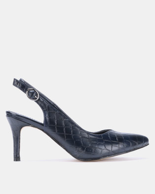 f0efa01fbf9 Gino Paoli Microfibre Kitten Heel with Bow Detail Nude. R 559. ×. NEW. Gino  Paoli Sling Back Heel Croc Navy