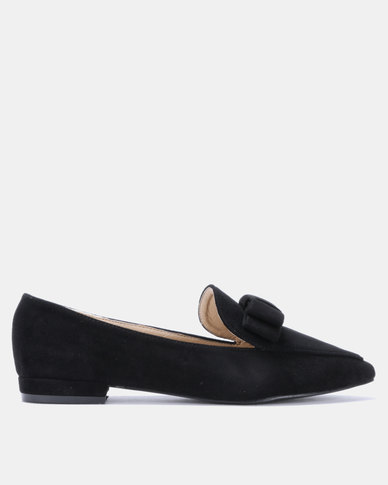 Gino Paoli Microfibre Bow Loafer Black