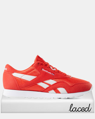 72794738bc7 Reebok Classic Nylon Colour-Canton Red White